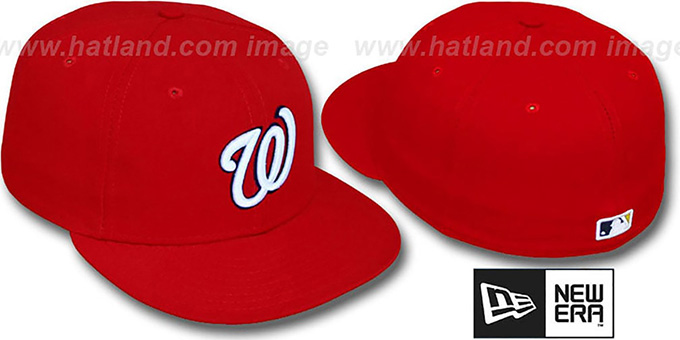 Nationals 'PERFORMANCE GAME' Hat by New Era : pictured without stickers that these products are shipped with
