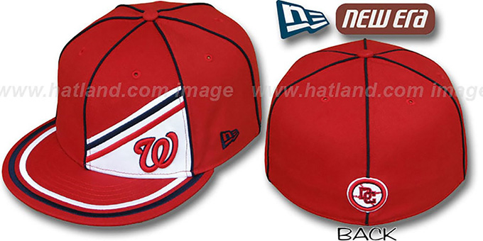 Nationals 'PROREV' Fitted Hat by New Era : pictured without stickers that these products are shipped with