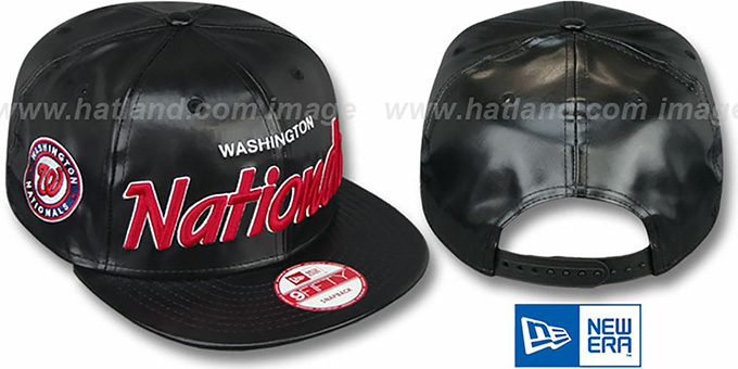 Nationals 'REDUX SNAPBACK' Black Hat by New Era : pictured without stickers that these products are shipped with