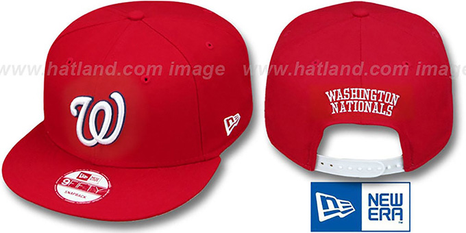 Nationals 'REPLICA HOME SNAPBACK' Hat by New Era : pictured without stickers that these products are shipped with