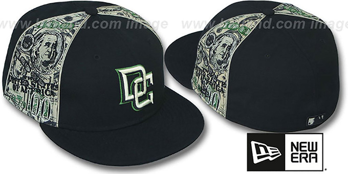 Nationals 'SHOWMEDA$' Black-Money Fitted Hat by New Era : pictured without stickers that these products are shipped with