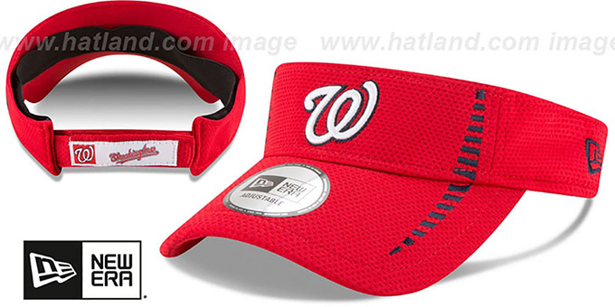 d174ec2493e63 Washington Nationals SPEED-VISOR Red by New Era. Nationals  SPEED-VISOR   Red by ...