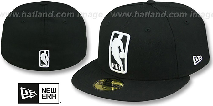 NBA LOGOMAN Black-White Hat By New Era At Hatland.com