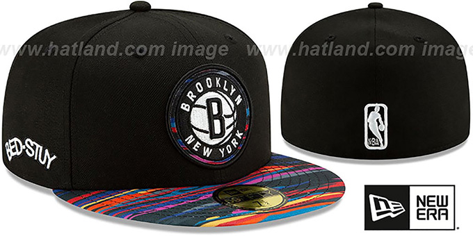 Nets 19-20 'CITY-SERIES' ALTERNATE Black-Multi Fitted Hat by New Era