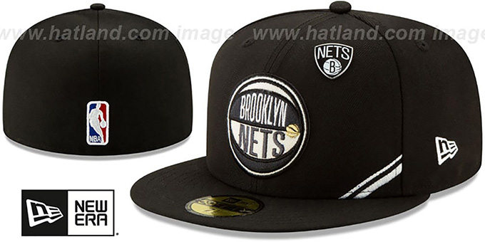 ee38d7a2 Brooklyn Nets 2019 NBA DRAFT Black Fitted Hat by New Era