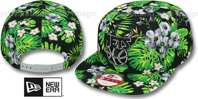 Nets 'BLOOM SNAPBACK' Hat by New Era : pictured without stickers that these products are shipped with