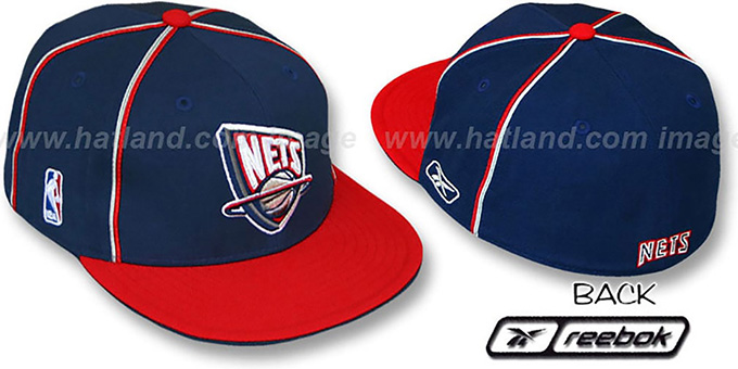 Nets 'CROSS TAPED' Fitted Hat by Reebok : pictured without stickers that these products are shipped with