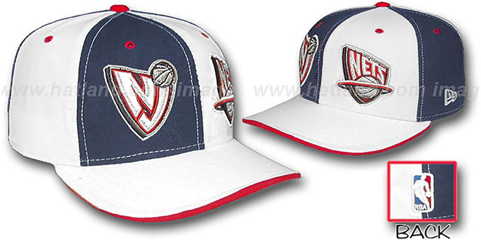 Nets 'DOUBLE WHAMMY' Navy-White Fitted Hat