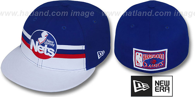 Nets 'HARDWOOD HORIZON' Fitted Hat by New Era : pictured without stickers that these products are shipped with