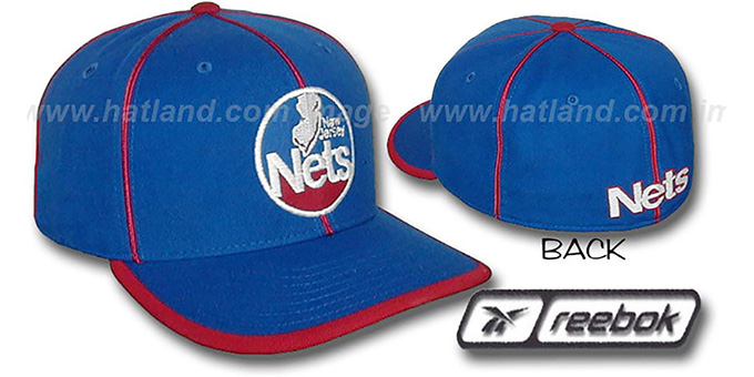 Nets HW 'WILDSIDE' Fitted Hat by Reebok - royal : pictured without stickers that these products are shipped with