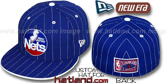 Nets 'HWC FABULOUS' Royal-White Fitted Hat by New Era : pictured without stickers that these products are shipped with