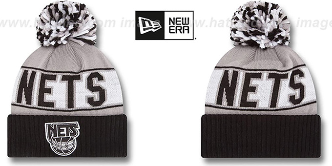 Nets HWC 'REP-UR-TEAM' Knit Beanie Hat by New Era : pictured without stickers that these products are shipped with