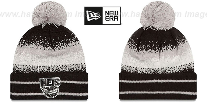 Nets 'SPEC-BLEND' Knit Beanie Hat by New Era : pictured without stickers that these products are shipped with