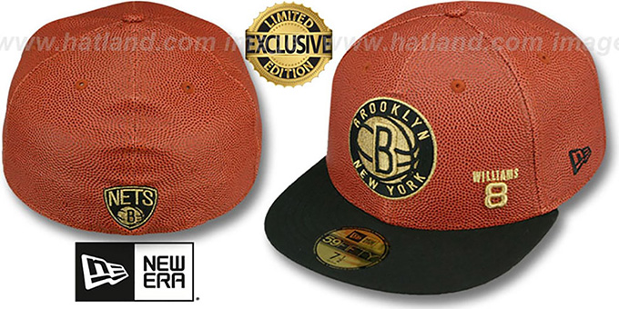 Nets WILLIAMS 'BASKET-BALLIN' Fitted Hat by New Era : pictured without stickers that these products are shipped with