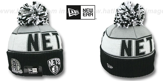 Nets WILLIAMS 'REP-UR-TEAM' Knit Beanie Hat by New Era : pictured without stickers that these products are shipped with