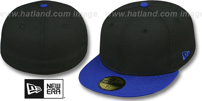 New Era '2T 59FIFTY-BLANK' Black-Royal Fitted Hat