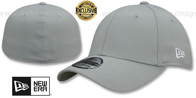New Era '39THIRTY-BLANK' Light Grey Flex Fitted Hat