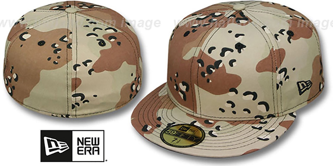 New Era '59FIFTY-BLANK' Desert Storm Fitted Hat : pictured without stickers that these products are shipped with