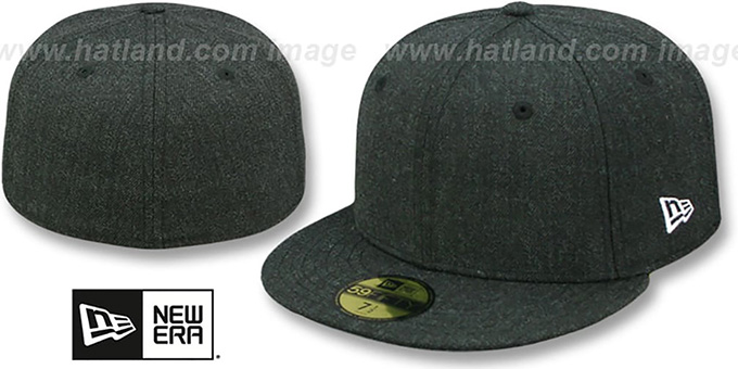 New Era '59FIFTY-BLANK' Heather Black Fitted Hat