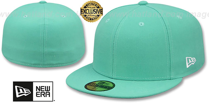 7ed070c60d5 New Era  59FIFTY-BLANK  Mint Fitted Hat
