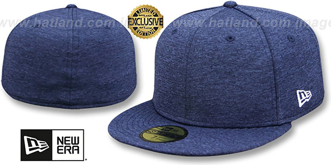 New Era '59FIFTY-BLANK' Navy Shadow Tech Fitted Hat : pictured without stickers that these products are shipped with