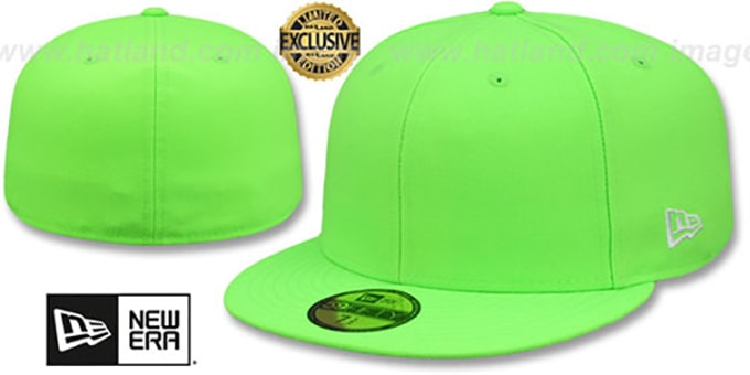 New Era '59FIFTY-BLANK' Neon Green Fitted Hat
