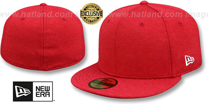 New Era '59FIFTY-BLANK' Red Shadow Tech Fitted Hat : pictured without stickers that these products are shipped with