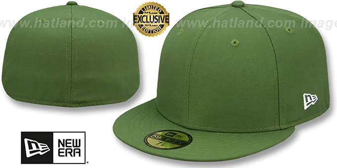 New Era  59FIFTY-BLANK  Rifle Green Fitted Hat 21baa132bbc