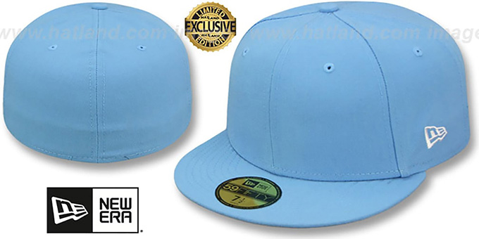 New Era '59FIFTY-BLANK' Solid Sky Fitted Hat