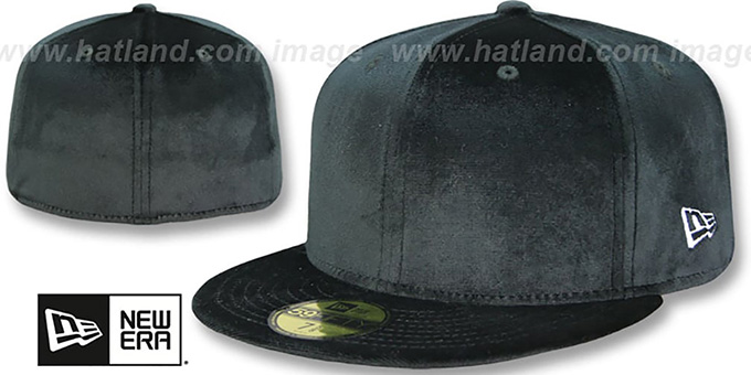 New Era  59FIFTY-BLANK VELOUR  Black Fitted Hat e7499eaaa89
