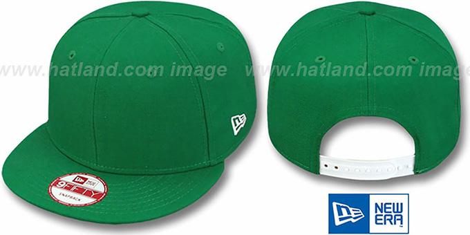 New Era  BLANK SNAPBACK  Kelly Green Adjustable Hat 2377a3b47bd