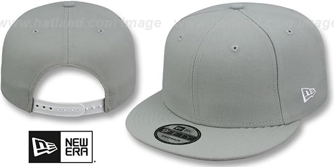 New Era  BLANK SNAPBACK  Light Grey Adjustable Hat 83809b7beca