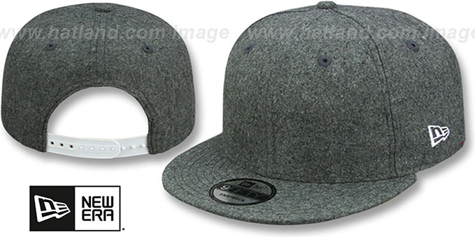New Era 'BLANK SNAPBACK' Melton Grey Adjustable Hat : pictured without stickers that these products are shipped with