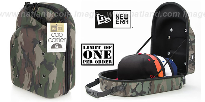 New Era CAMO '6-CAP' Case : pictured without stickers that these products are shipped with