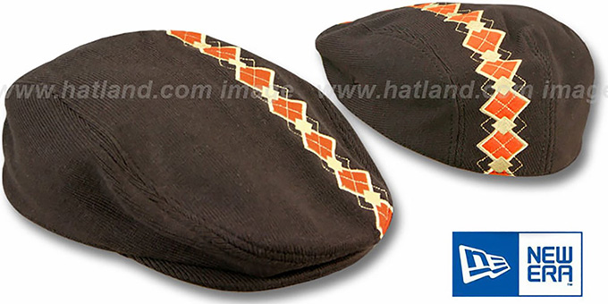 New Era 'CHUBBS' Argyle Gatsby in Brown : pictured without stickers that these products are shipped with