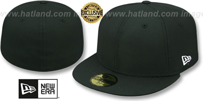 New Era 'DIAMOND TECH 59FIFTY-BLANK' Black Fitted Hat