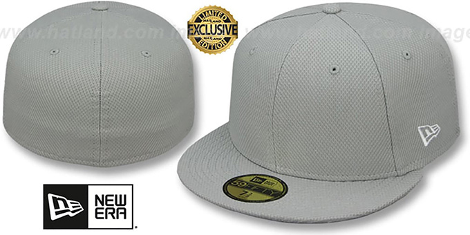 New Era  DIAMOND TECH 59FIFTY-BLANK  Light Grey Fitted Hat 013a87e3373
