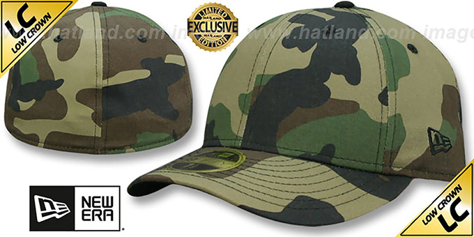 New Era  LOW-CROWN 59FIFTY-BLANK  Army Camo Fitted Hat 6f12592ba7d2