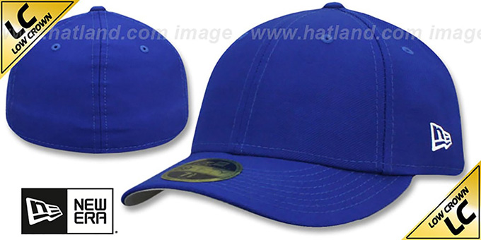 New Era 'LOW-CROWN 59FIFTY-BLANK' Royal Fitted Hat