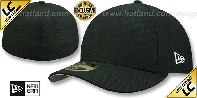 New Era 'LOW-CROWN DIAMOND TECH 59FIFTY-BLANK' Black Fitted Hat