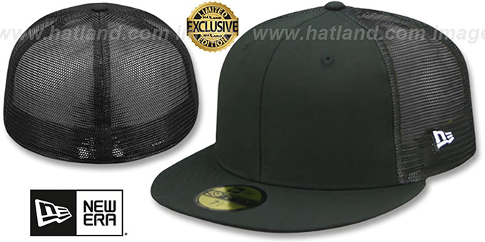 33480372cc3e0 New Era  MESH-BACK 59FIFTY-BLANK  Black-Black Fitted Hat