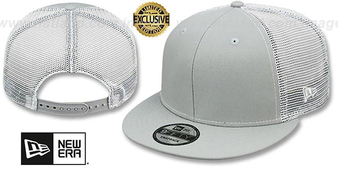 4cd7a0352bb56 New Era  MESH-BACK BLANK SNAPBACK  Light Grey-White Adjustable Hat