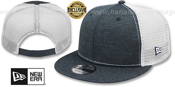 0f17d9261e2 New Era  MESH-BACK BLANK SNAPBACK  Navy Shadow Tech-White Adjustable Hat