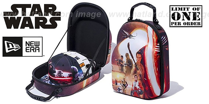 New Era STAR WARS 'CAP CARRIER' Case : pictured without stickers that these products are shipped with
