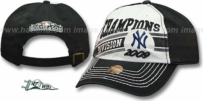 New York Yankees Authentic 2009 'AL Eastern Division Champions' hat by Twins : pictured without stickers that these products are shipped with