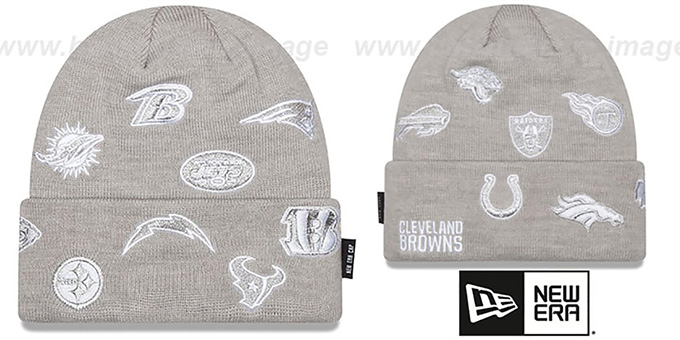 NFL 'AFC TOTAL LOGO' Grey Knit Beanie Hat by New Era
