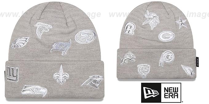 NFL  NFC TOTAL LOGO  Grey Knit Beanie Hat by New Era 5c09cd15dd75