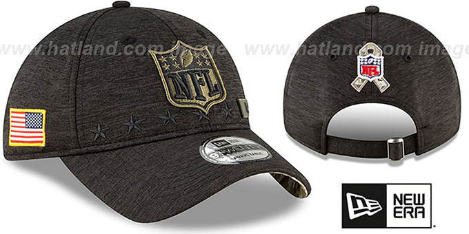 NFL Shield '2020 SALUTE-TO-SERVICE STRAPBACK' ST Black Hat by New Era