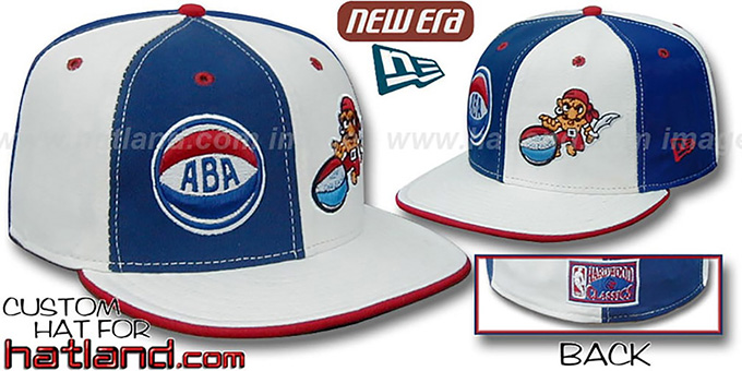 NO Buccaneers ABA 'DOUBLE WHAMMY' Royal-White Fitted Hat : pictured without stickers that these products are shipped with