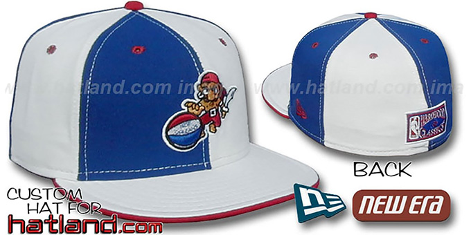 NO Buccaneers 'OLD SCHOOL PINWHEEL' Royal-White Fitted Hat : pictured without stickers that these products are shipped with